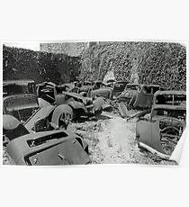 car graveyard Poster