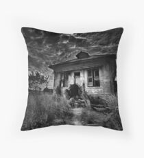 Dark Siding Throw Pillow