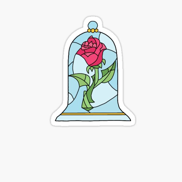 Geometric Belles Rose Sticker Sticker