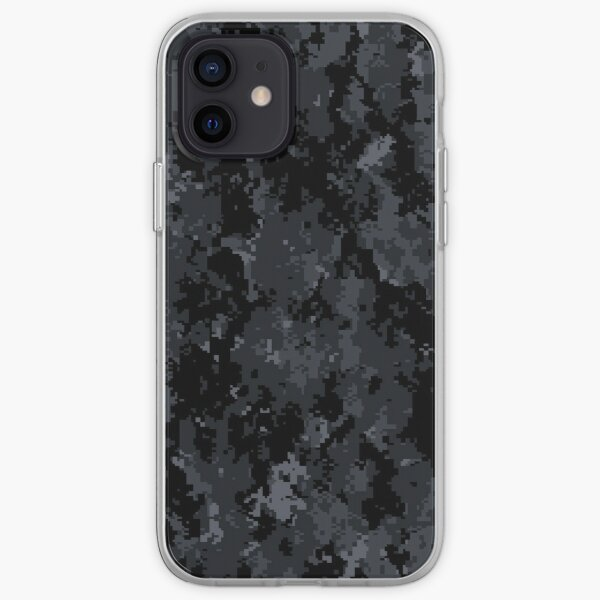 Noir Gris Pixel Camo Coque souple iPhone