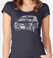 Austin Metro - Wire Frame Women's Fitted Scoop T-Shirt