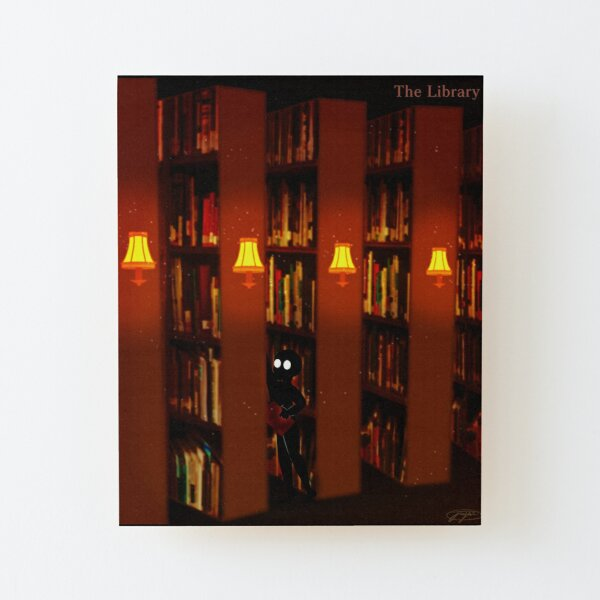 The Library Wood Mounted Print