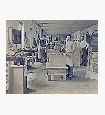 Cabinet Card: c1890 Woodworkers in a Furniture Shop Photographic Print