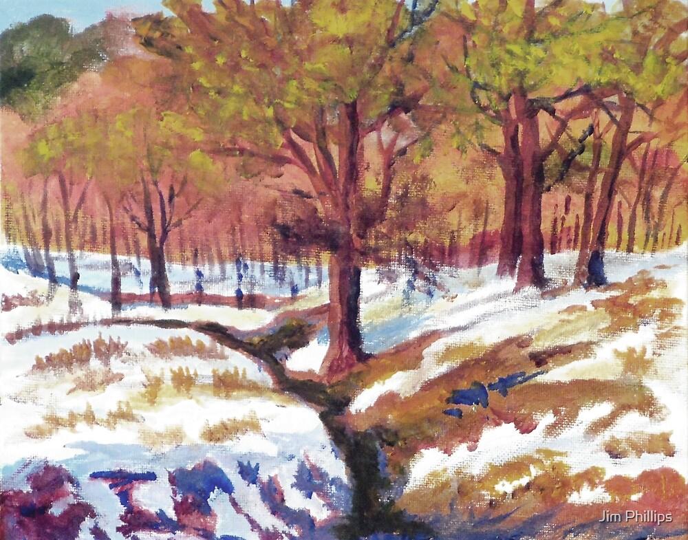 Winter Cheats Fall by Jim Phillips
