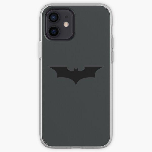 Logo de chauve-souris sombre Coque souple iPhone