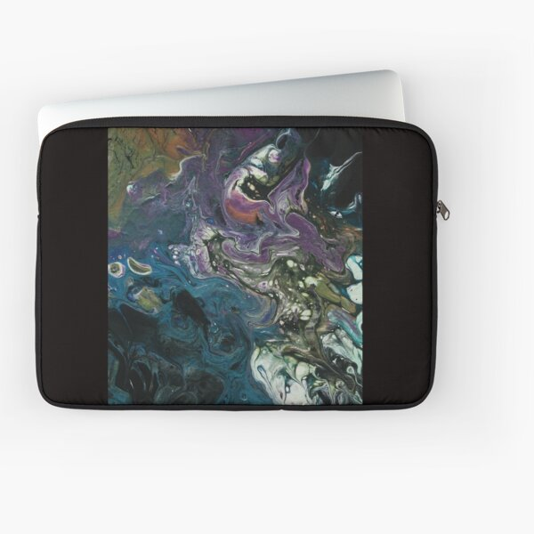 Purple and Blue Abstract Painting Laptop Sleeve