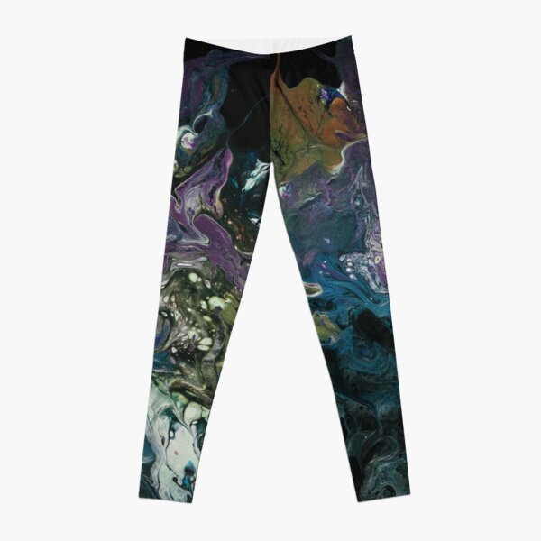 Purple and Blue Abstract Painting Leggings