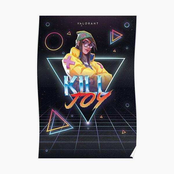 Valorant - Killjoy - Estilo retro de fiesta de los 80 Póster