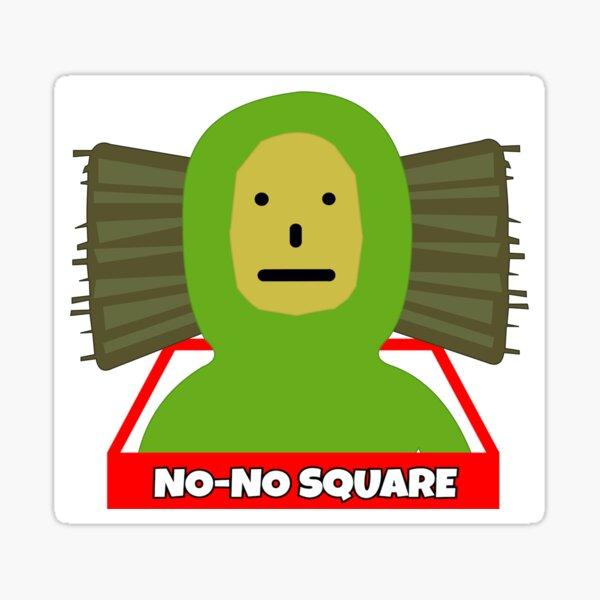 No No Square Sticker