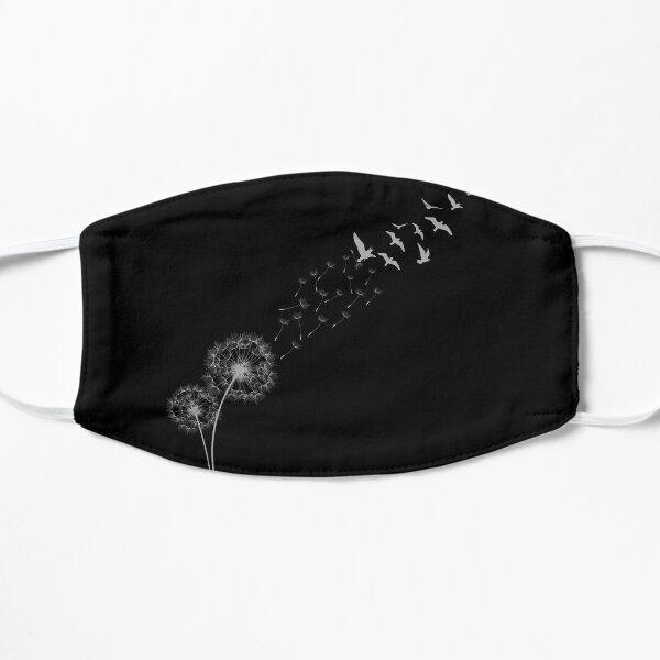 Dandelion T-shirt flowers and birds Flat Mask
