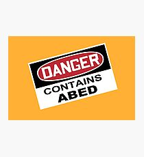 DANGER: Contains Abed Photographic Print