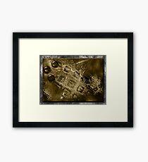 ©DA Fractal In Abstract IA1-X Sepia Framed Print
