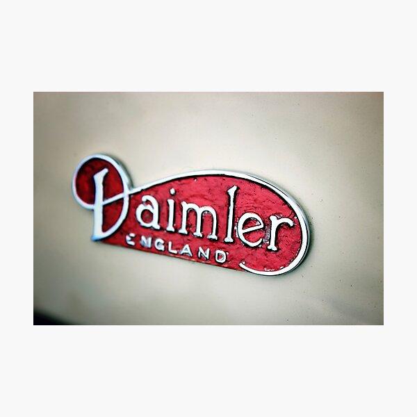 Daimler Classic Car Logo Photographic Print