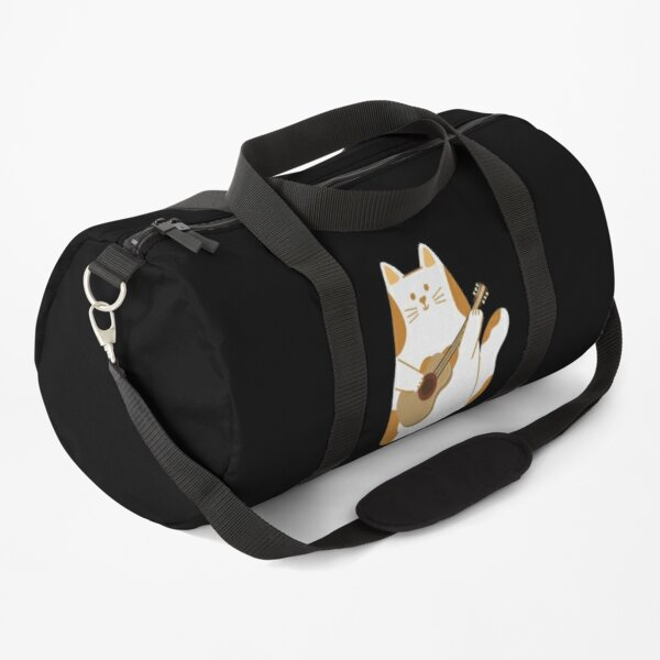 CAT PLAYING GUITAR  Duffle Bag
