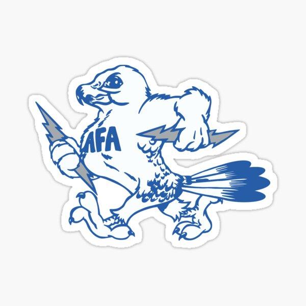Vintage Air Force Academy Mascot Logo Design Sticker