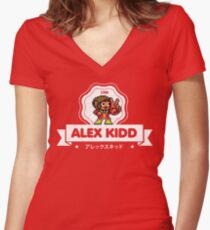 Alex Kidd Women's Fitted V-Neck T-Shirt