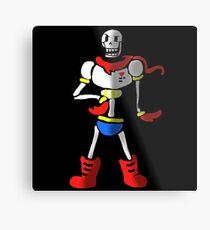Undertale The Great Papyrus Metal Print