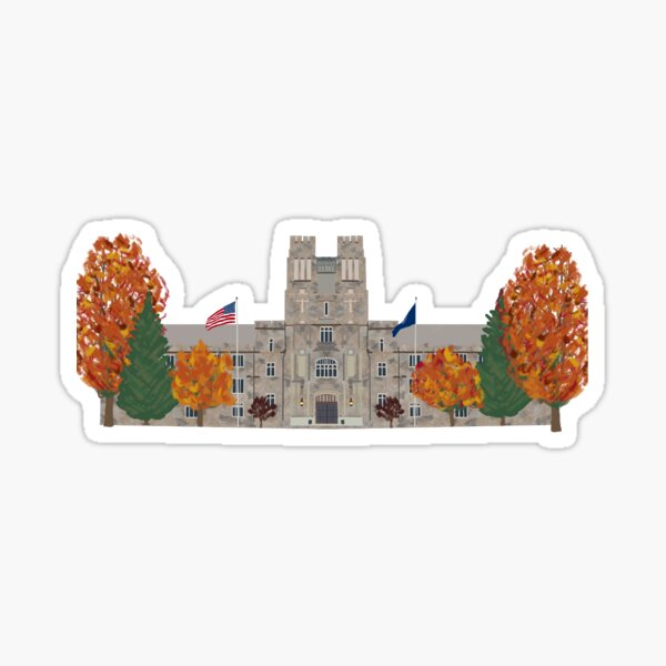 Burruss Hall in the Fall Sticker