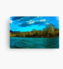 Bitter Cold Day on the Shenandoah River Canvas Print