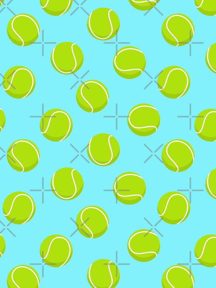 Tennis Balls - Light Blue by littlearrow