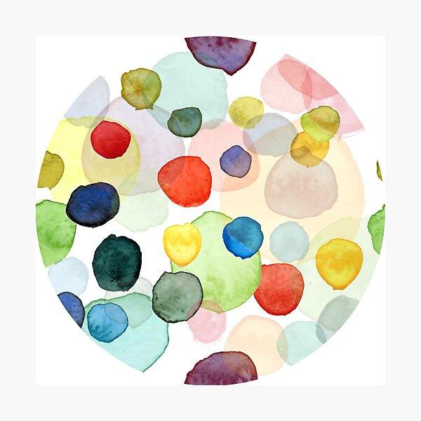 watercolor dots multicolor Photographic Print