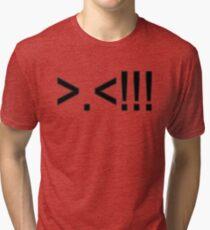ASCII Rage Face ( Dark ) Tri-blend T-Shirt
