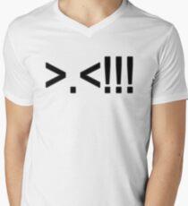 ASCII Rage Face ( Dark ) Men's V-Neck T-Shirt