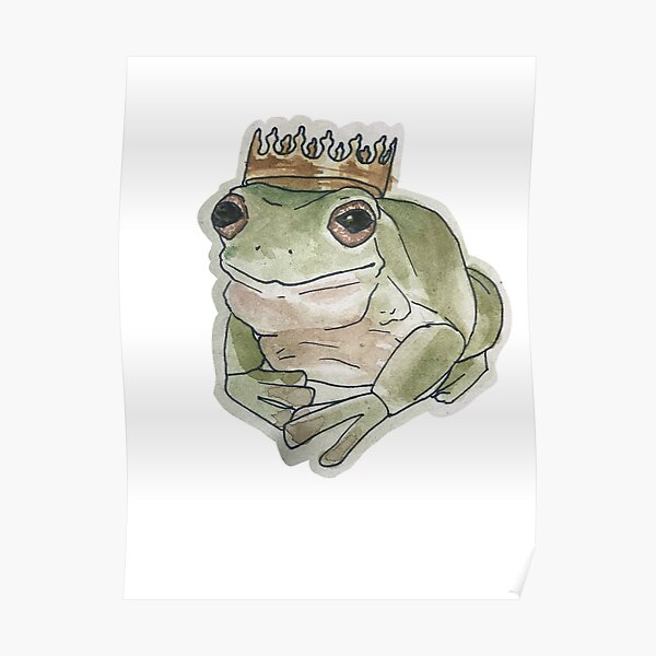 Frog King Posters Redbubble