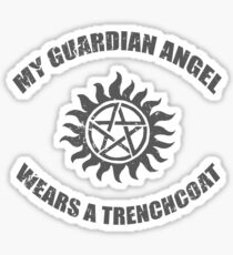Supernatural Castiel Guardian Angel Sticker