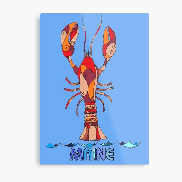 Red Maine Lobster #1 Metal Print