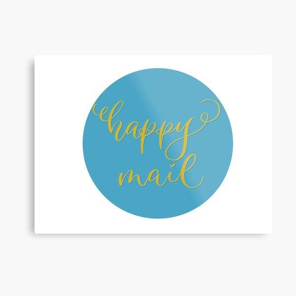 Happy mail stickers Metal Print