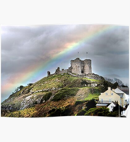 Rainbow over the Castle . Poster