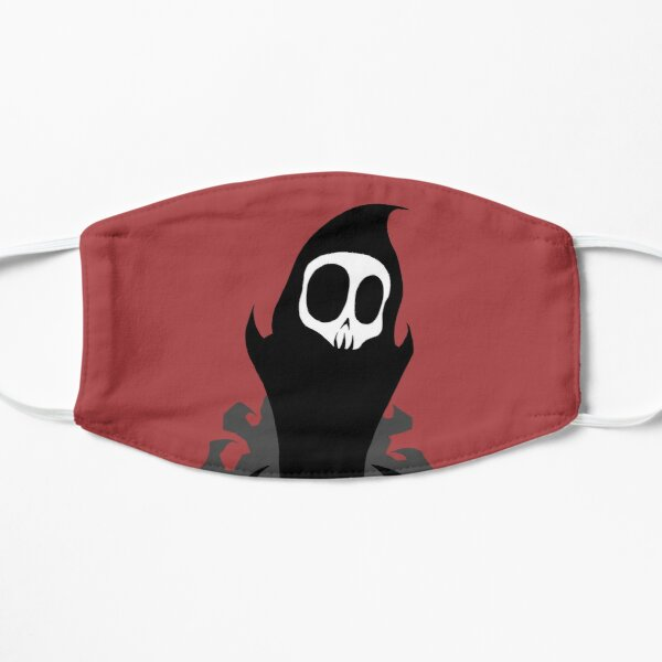 Reaper Skull Half Mask Face Covering Crimson Red
