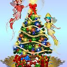 Fairies decorating the tree by LoneAngel
