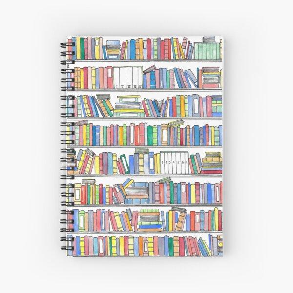 Rainbow Bookcase Spiral Notebook
