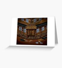 Wild West Saloon bar  Greeting Card