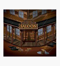 Wild West Saloon bar  Photographic Print