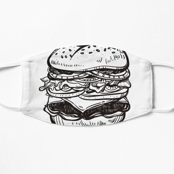 Cheeseburger Hand Drawn Food Art Mask