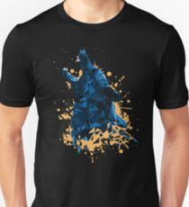 Blue Geometric Barking Shepherd T-Shirt