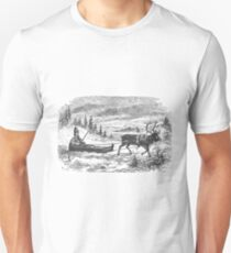 Small sleigh and reindeer Unisex T-Shirt