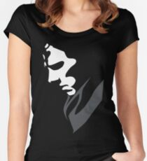 Mysterious with Cheekbones Women's Fitted Scoop T-Shirt