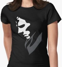 Mysterious with Cheekbones Women's Fitted T-Shirt