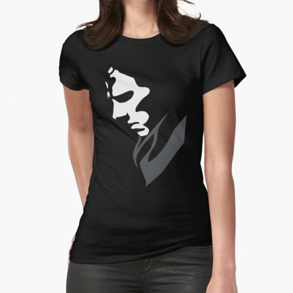Mysterious with Cheekbones Fitted T-Shirt