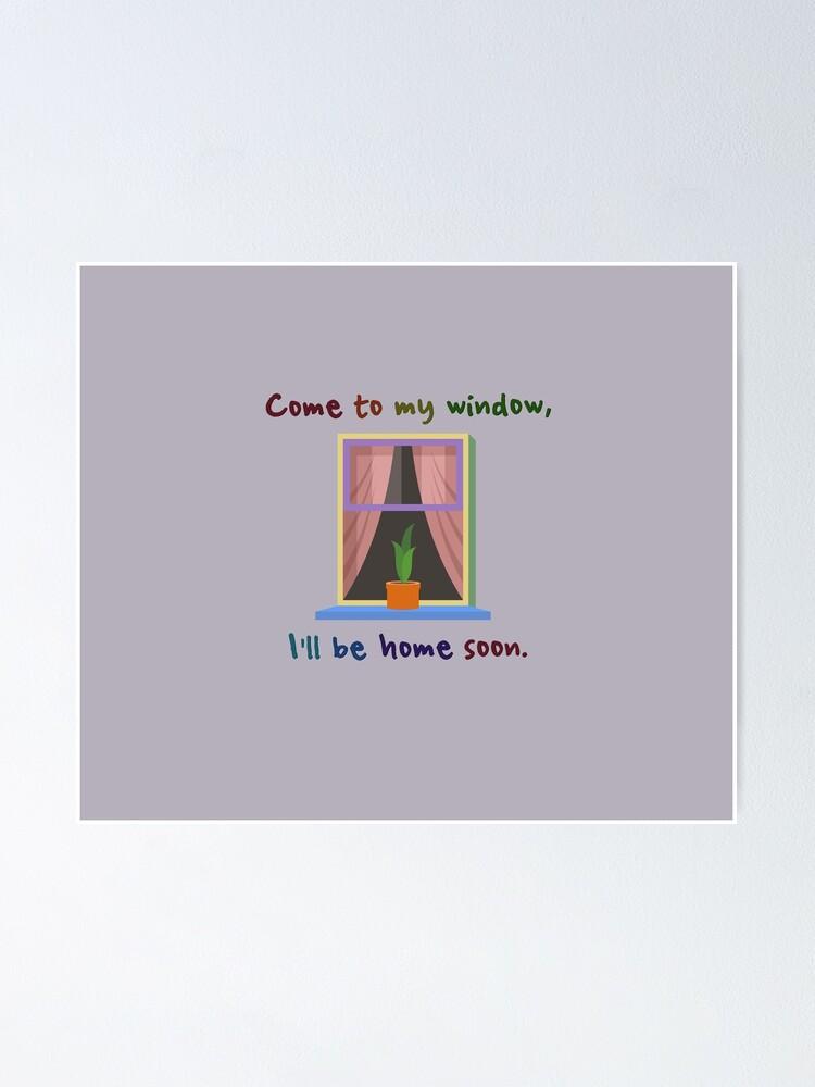Alternate view of Come To My Window - Melissa Etheridge Design Poster