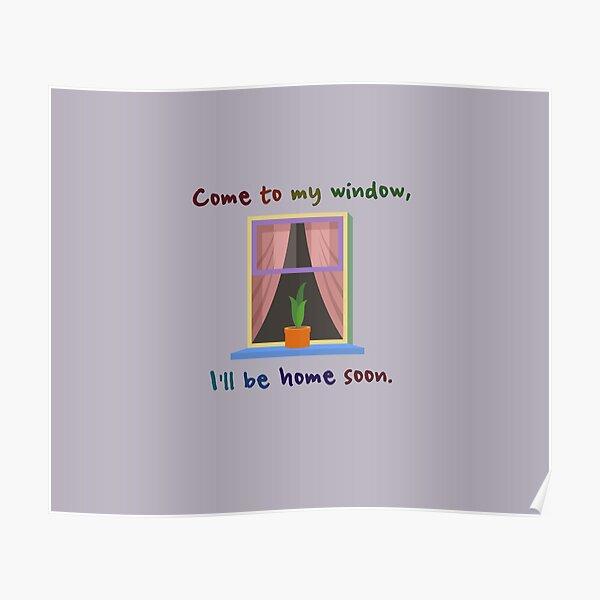Come To My Window - Melissa Etheridge Design Poster