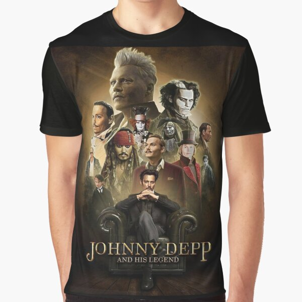 Johnny Depp T-shirt graphique