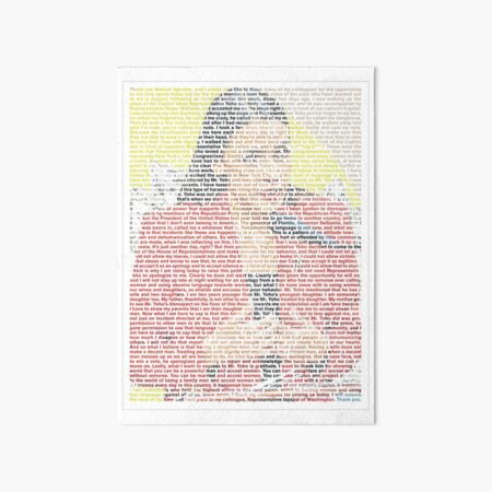 AOC's speech about Ted Yoho 'Apology' House Floor Speech full (with background) Art Board Print