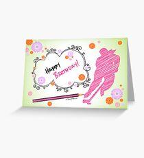 Hockey Birthday Card Scribble - Female Greeting Card