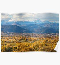 Boulder Colorado Autumn Scenic View Poster