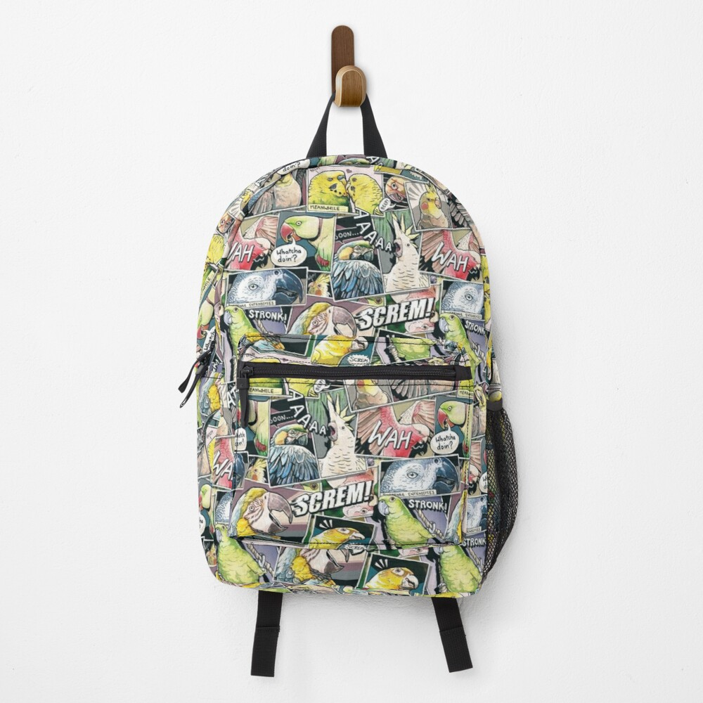 Parrots Comic Style Backpack